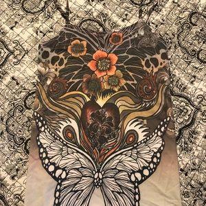 Butterfly art tank